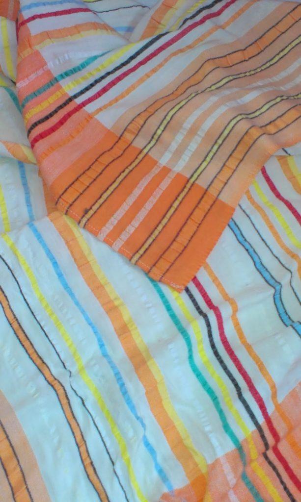 Linens -orange and yellow