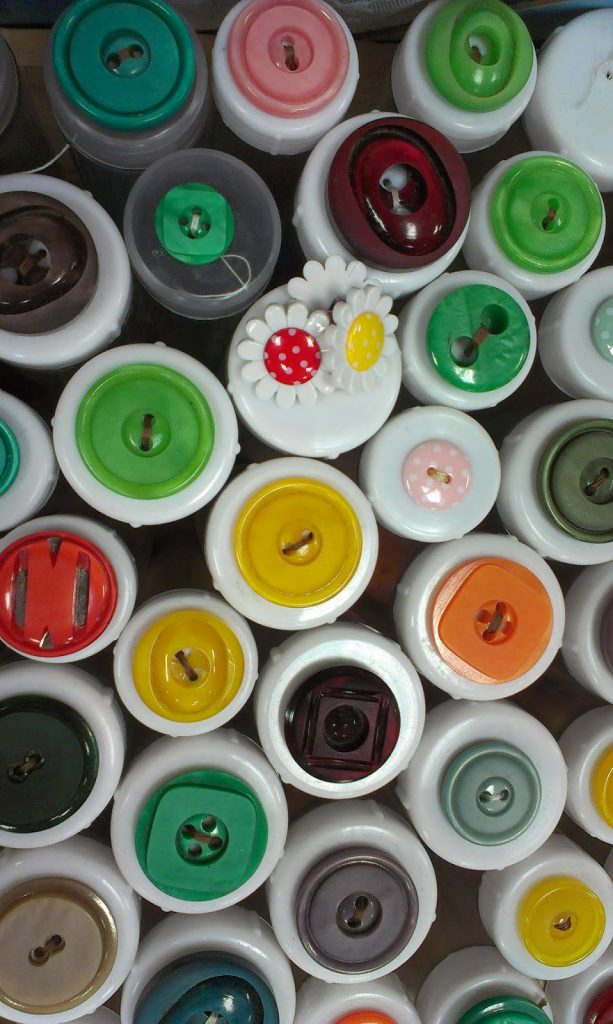 Knitting & Stitching Show, Olympia 2014 - buttons