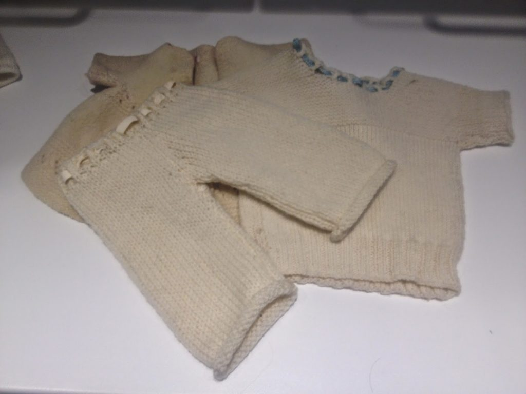 baby cloths ready for some Tom of Holland inspired Swiss darning