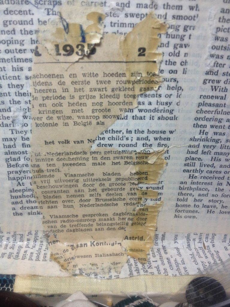 newspaper that had been hidden since 1935.