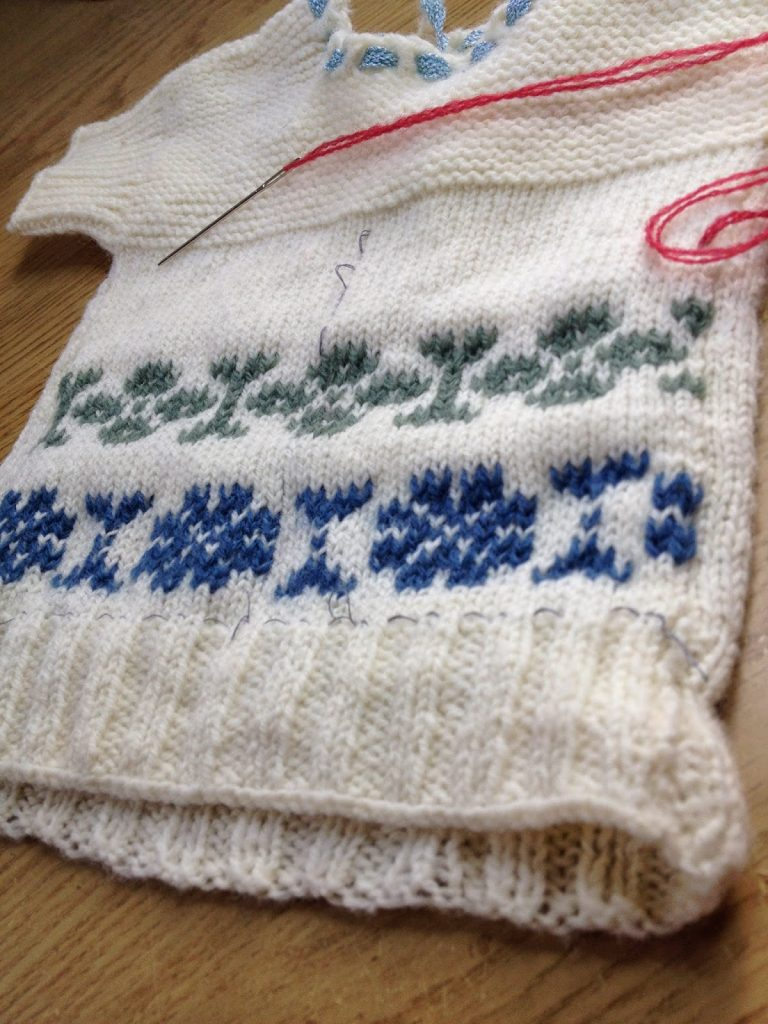 Tom of Holland inspired Swiss darning