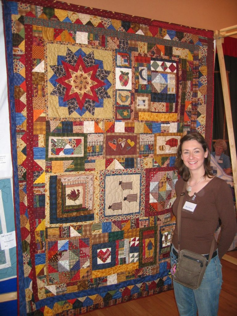 patchwork quilt made my Catherine Hill from Arnold's Attic