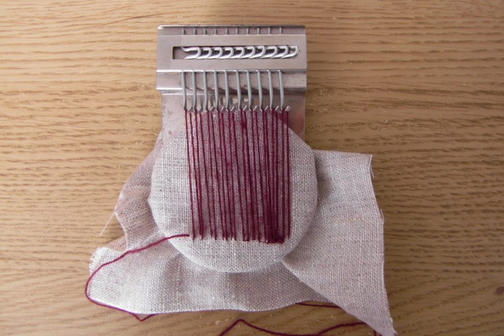darning with a Speedweve - Lancashire's Smallest Loom