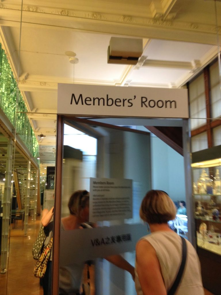Victoria and Albert Museum members' area