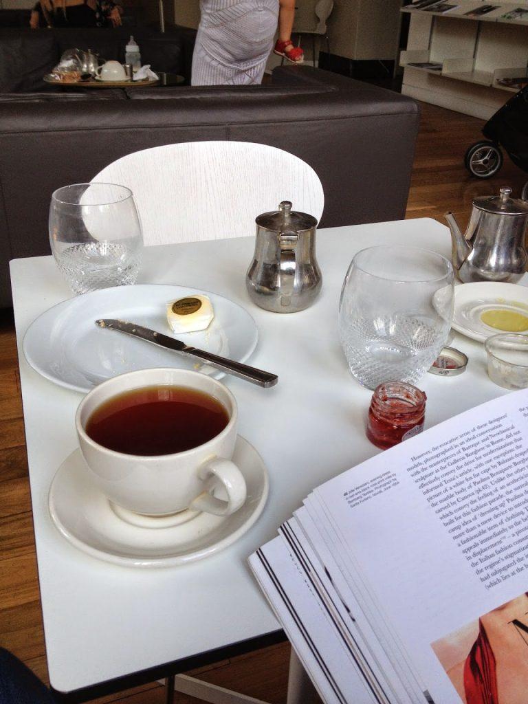 Victoria and Albert Museum members' area - cream tea