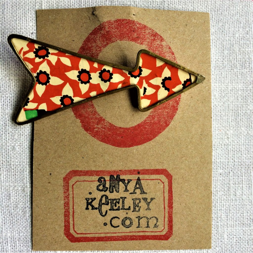 Contemporary Craft Festival - brooch by Anya Keeley