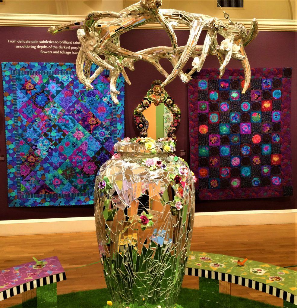 Kaffe Fassett quilts and mosaics