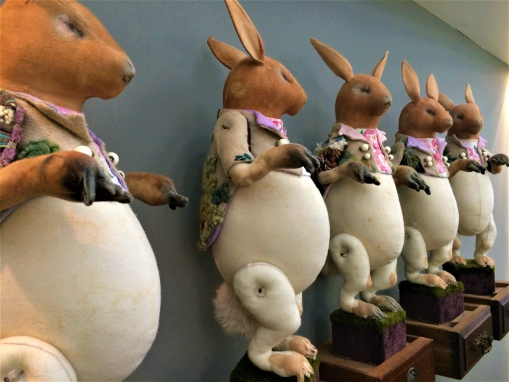 Mister finch - rabbits wearing tail coats,