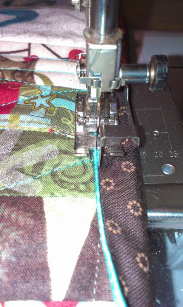 Ricky Tims piped binding on my Table Runner