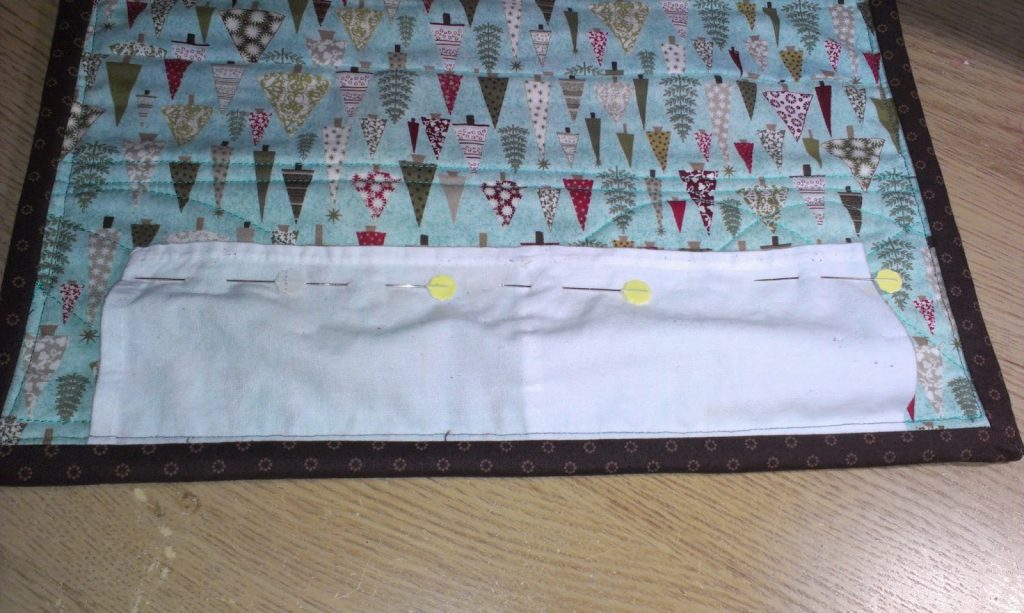 vintage finds - old napkin on a table runner