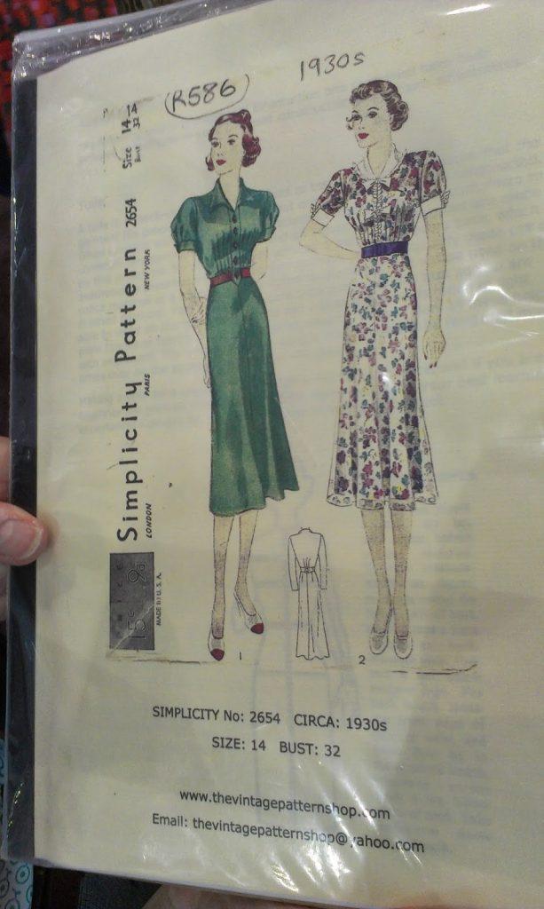 vintage clothing pattern