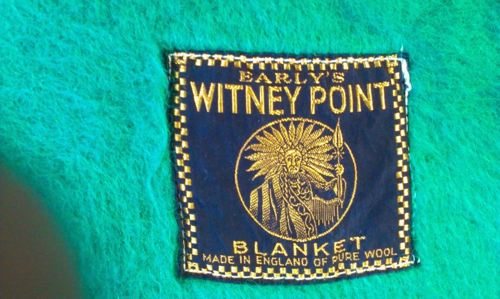 vintage blanket - 4 Point Witney Early's Wool Blanket label