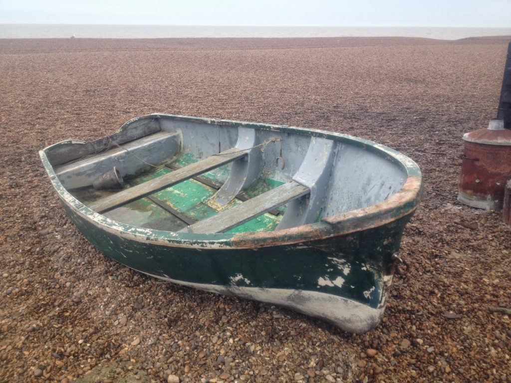 beach and sea at Aldeburgh - boat
