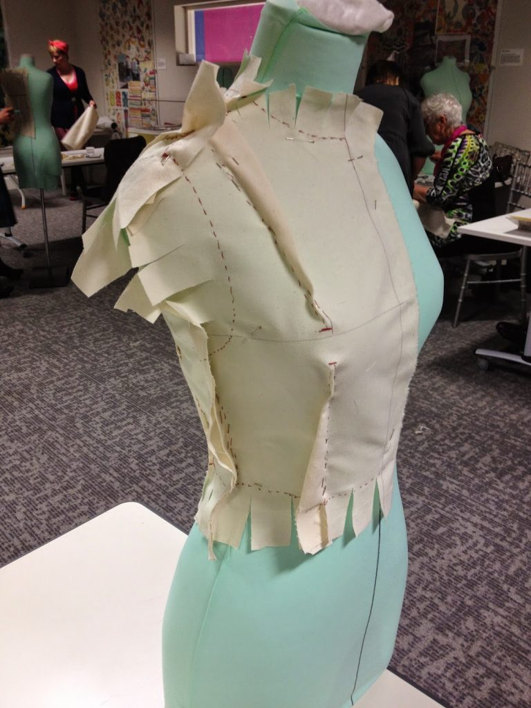 Dressmaking Workshop - pattern making on a mannequin