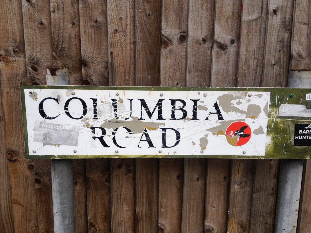 Columbia Road sign