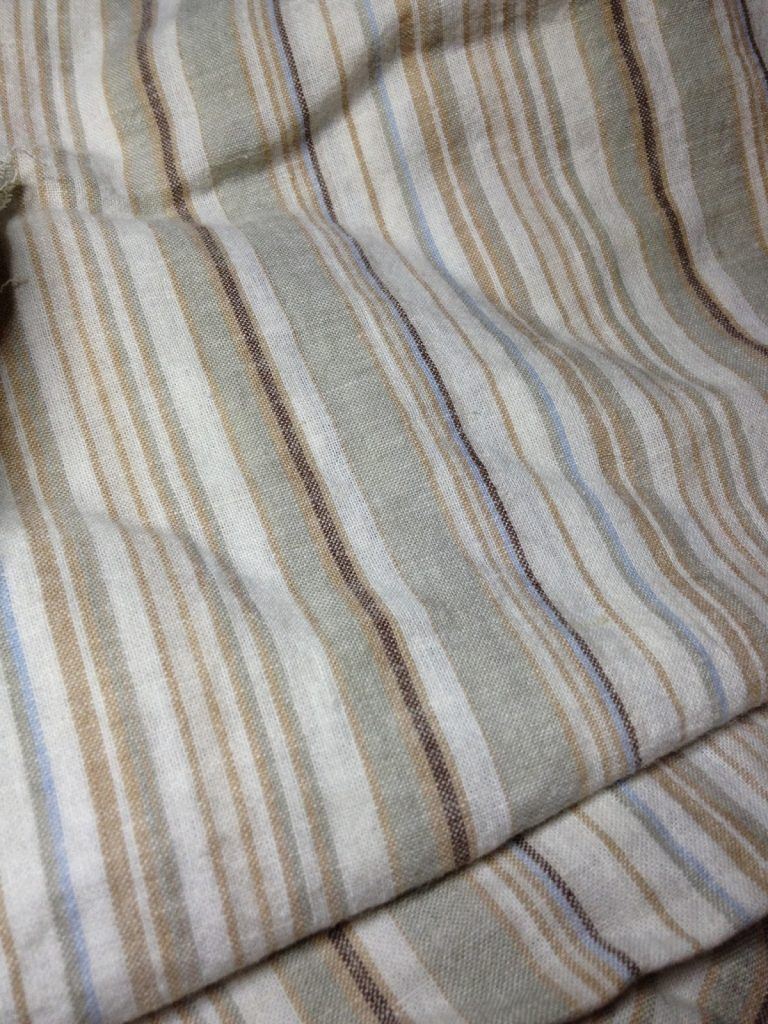 ugly striped fabric ready to over dye