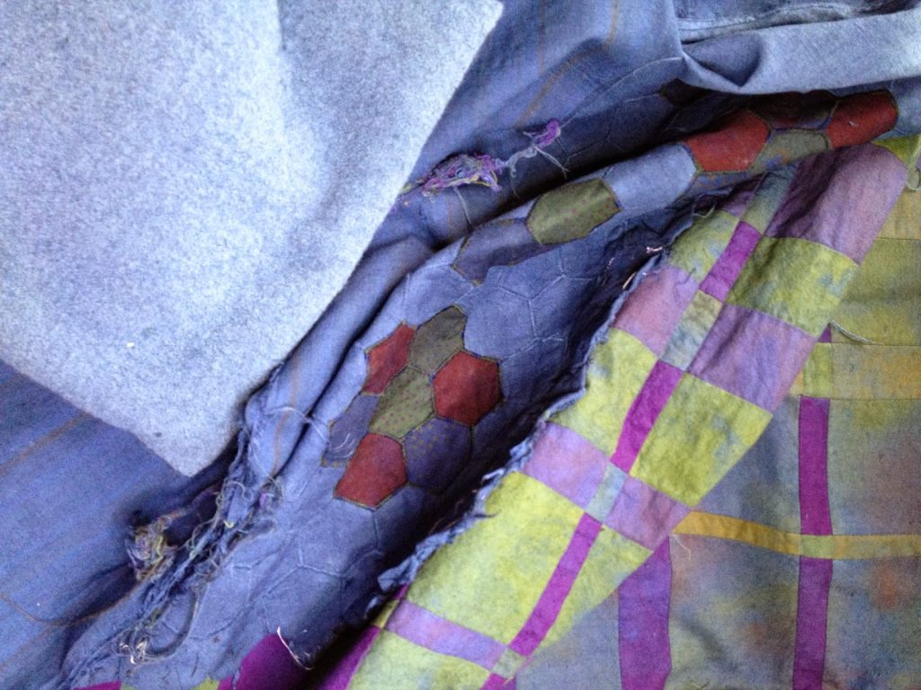textiles after over dyeing