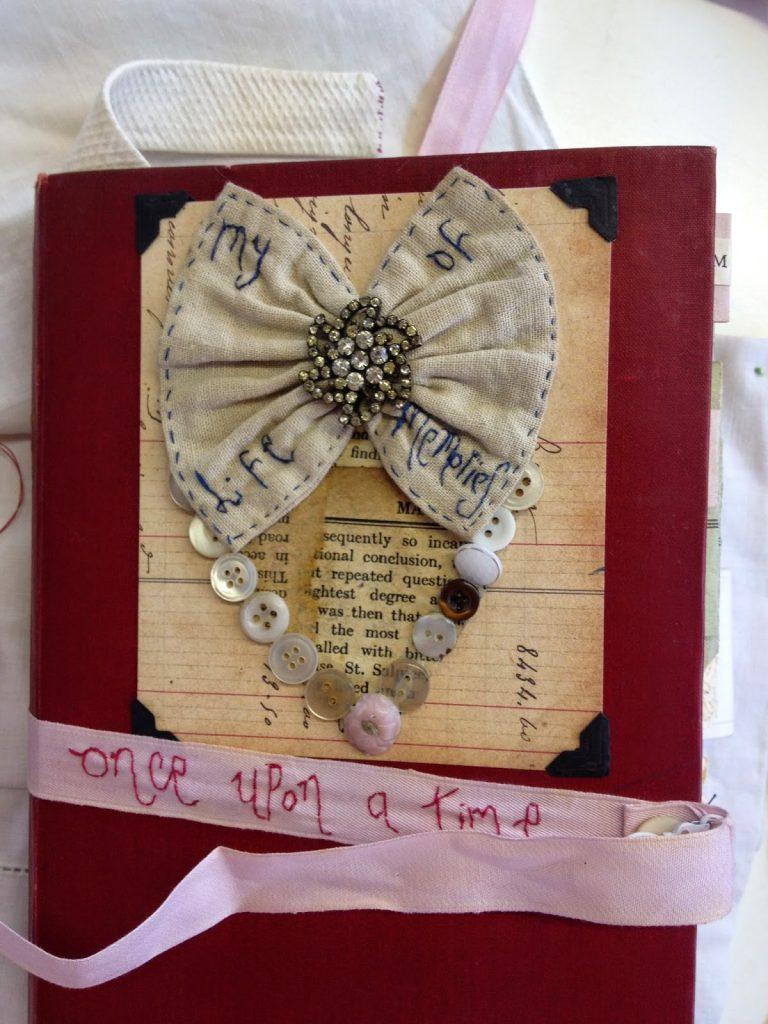 hand embroidered journal by jessie chorley
