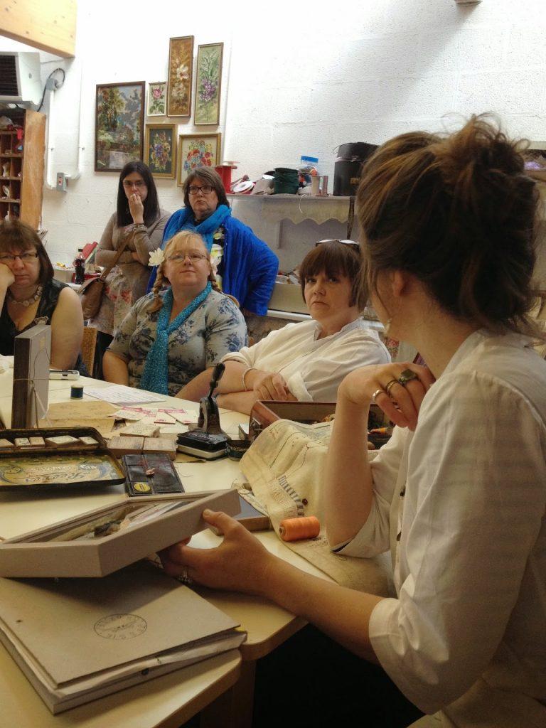 Jessie Chorley showing her Stitching