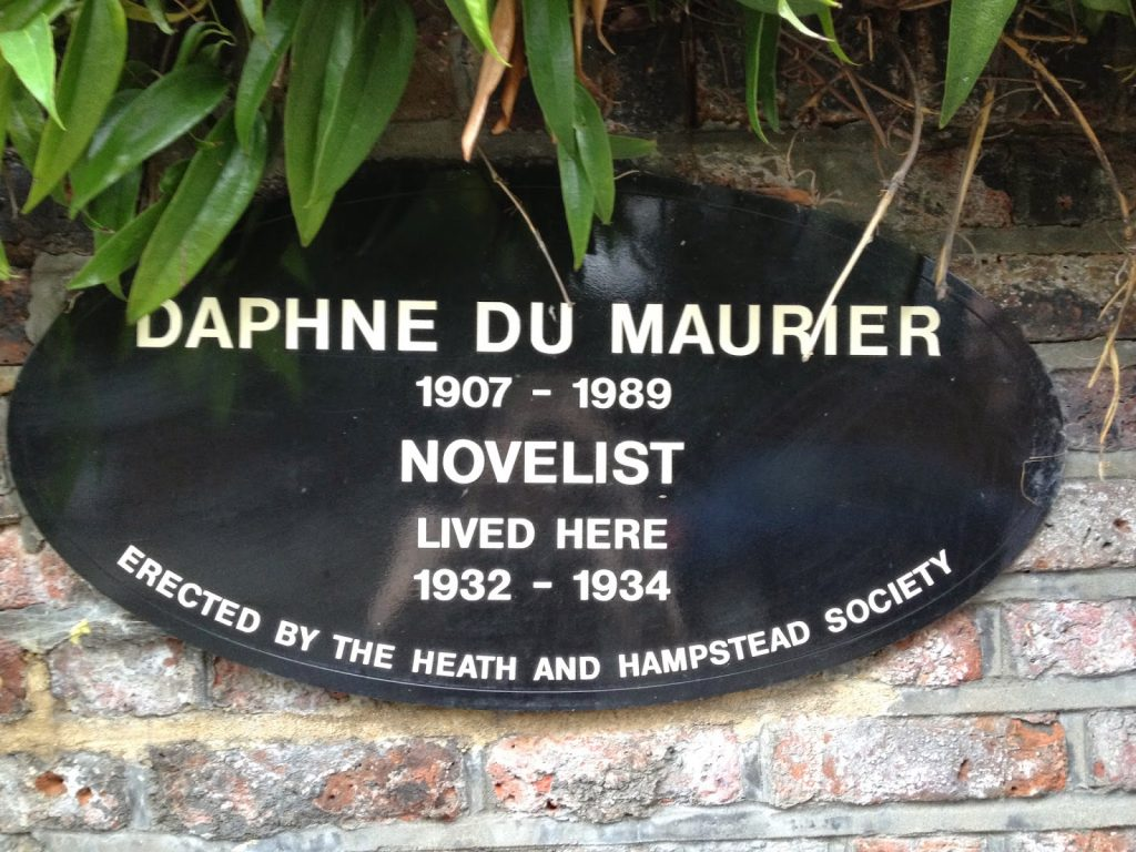 Open garden squares weekend - Hampstead - Daphne du maurier lived here sign