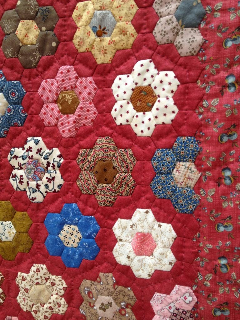 The Festival of Quilts - Traditional Quilts - hexgons