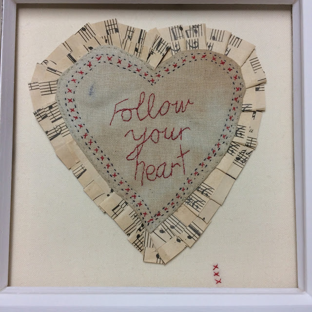 Embroidery  Follow your heart picture