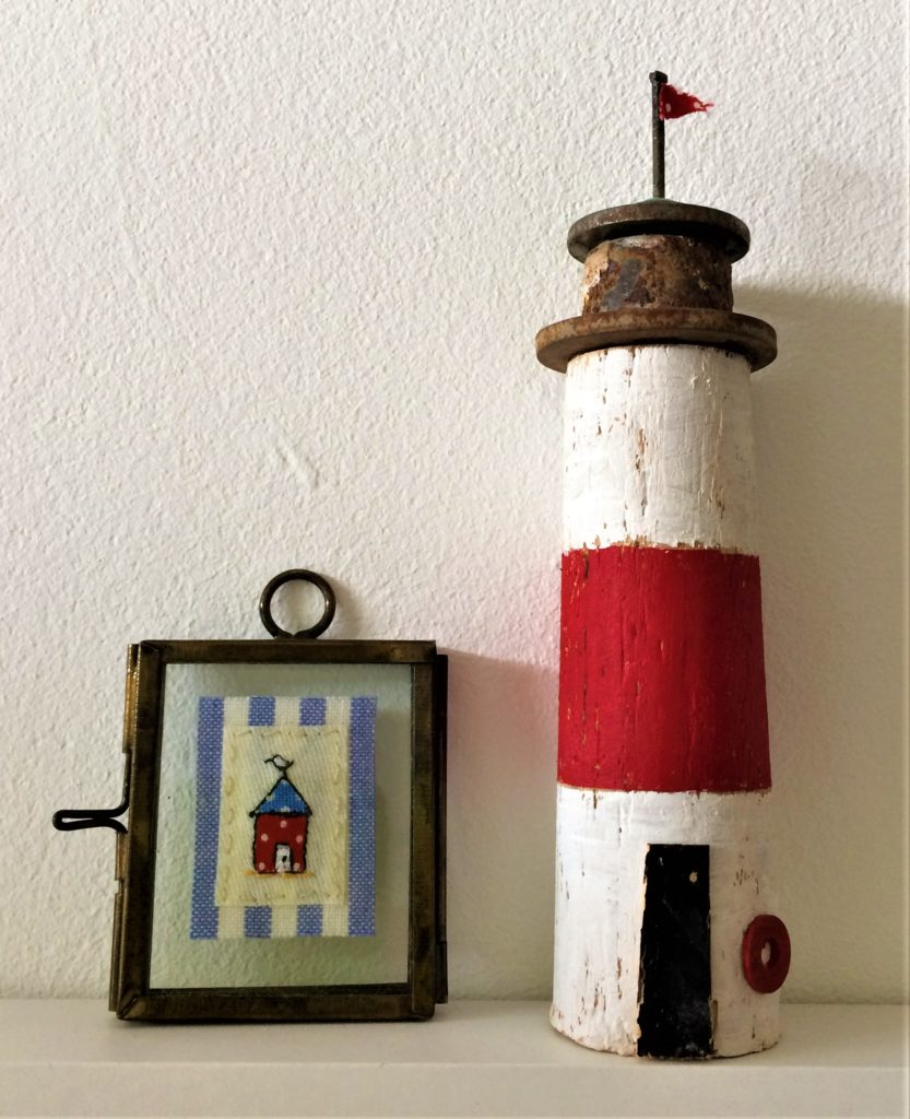 Contemporary Craft Festival - Embroidery by Sue Bibby. Lighthouse by Kirsty Elson
