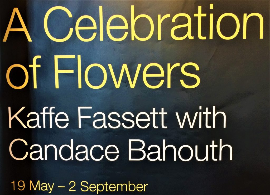 Kaffe Fassett and Candace Bahouth exhibition poster