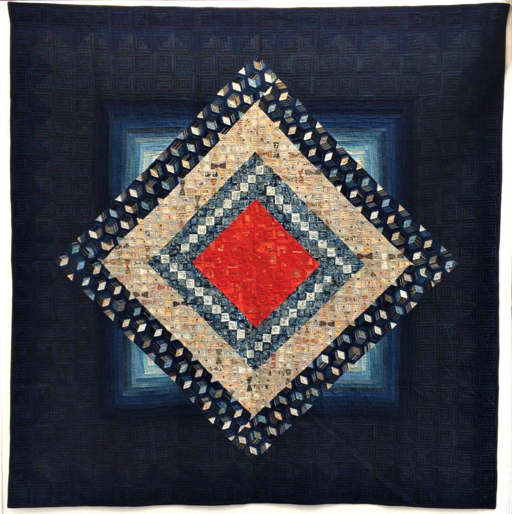 Festival of Quilts 2018 - Indigo and Sarasa; Pieces of my Life Exhibition- Shizuko Kuroha