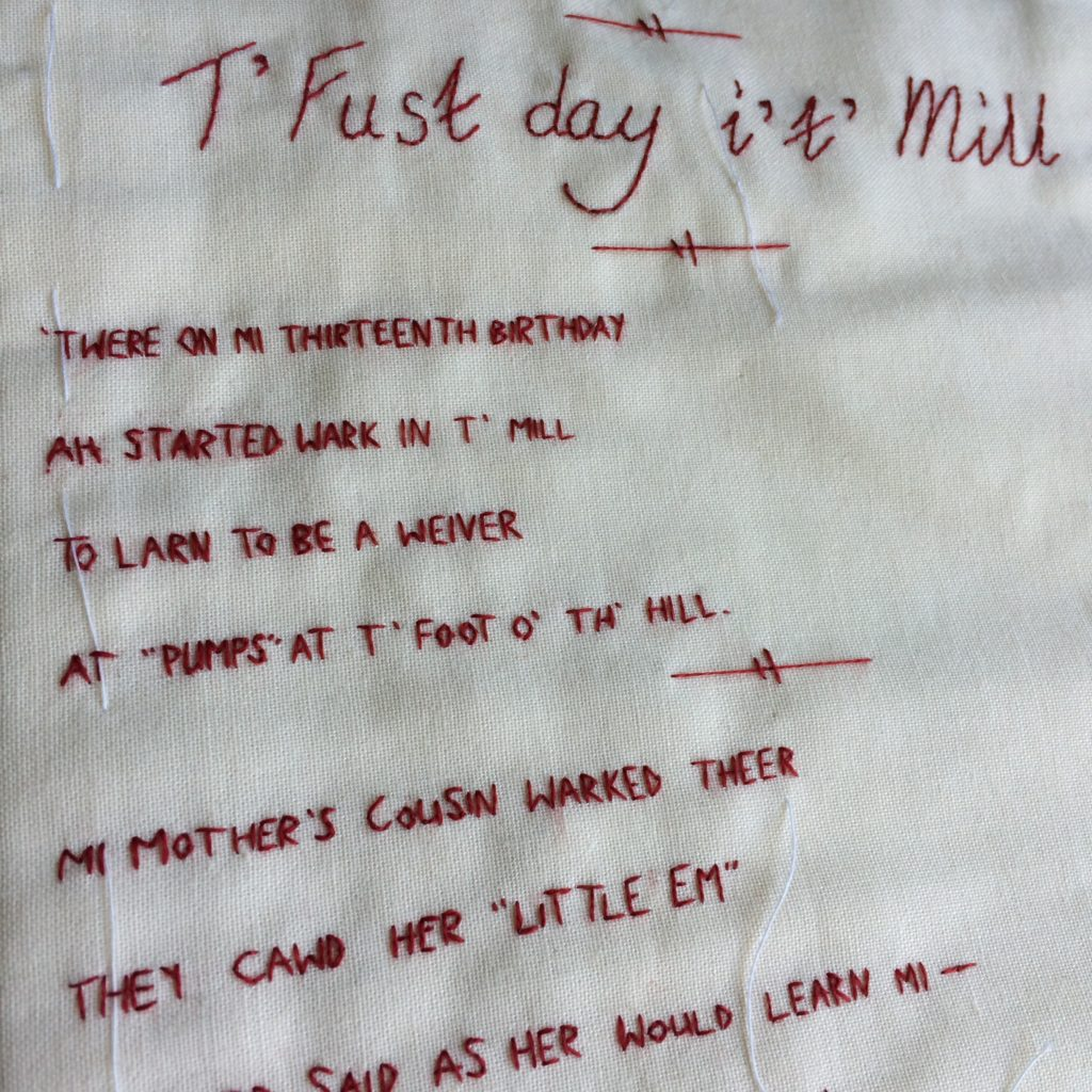 The First Day in the Mill. Poetry in Lancashire dialect.