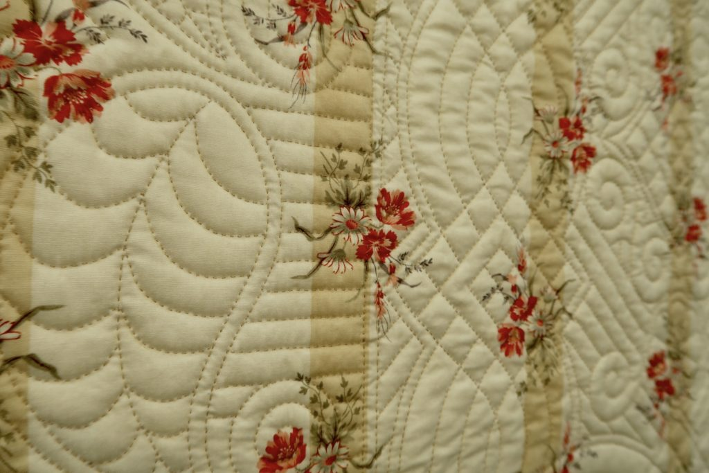 Hand Quilted quilt by Sandie Lush