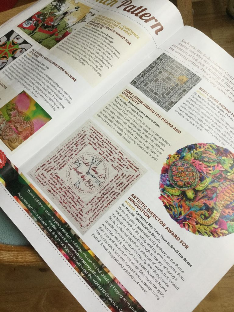 Article in Stitch magazine Issue 123