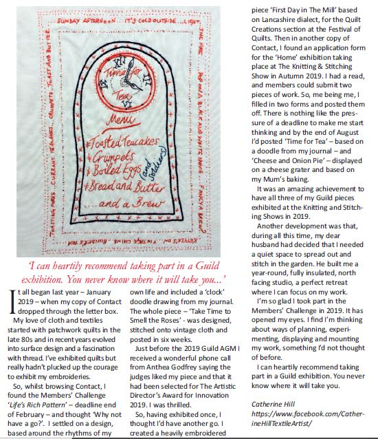 Embroiderers' Guild Contact Magazine - January 2010 edition
