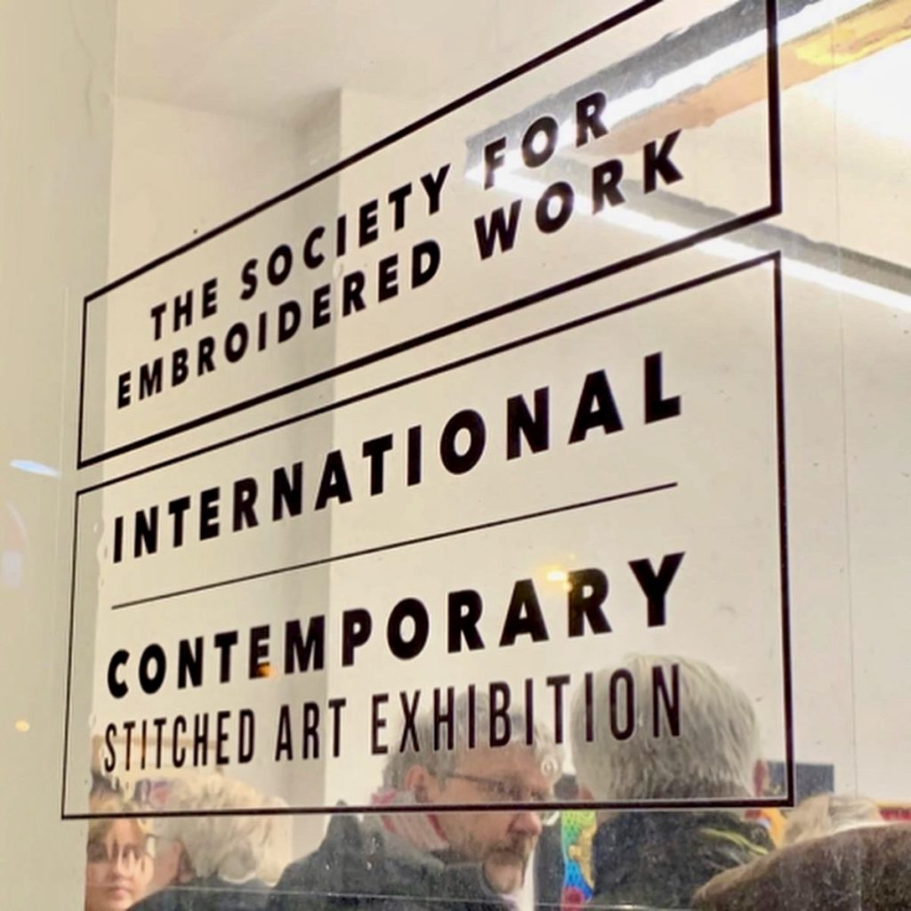 The pre-view evening for The Society for Embroidered Work exhibition