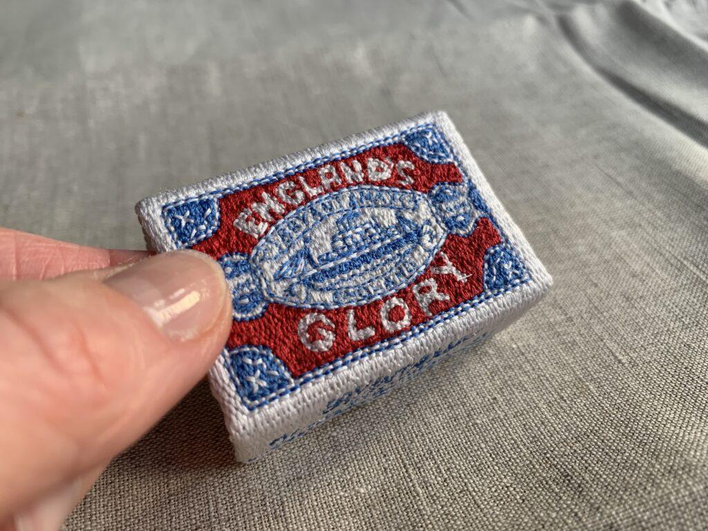 Hand embroidered Matchbox in silk thread