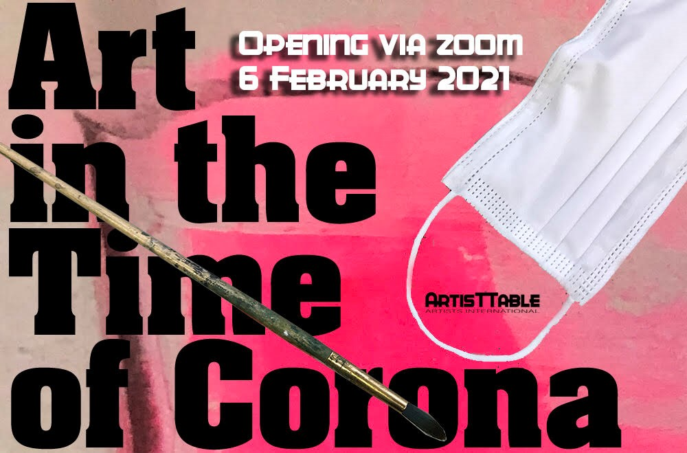 Art in the Time of Corona Exhibition Poster