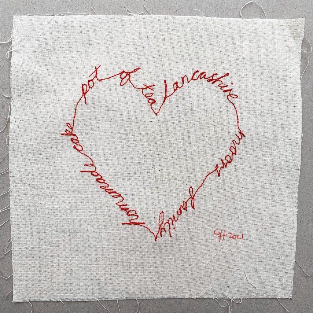 My Embroidered Shingle