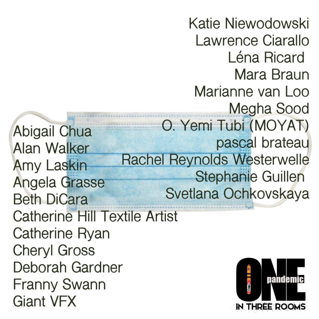 List of artists taking part in Walk Bye Anniversary Exhibition