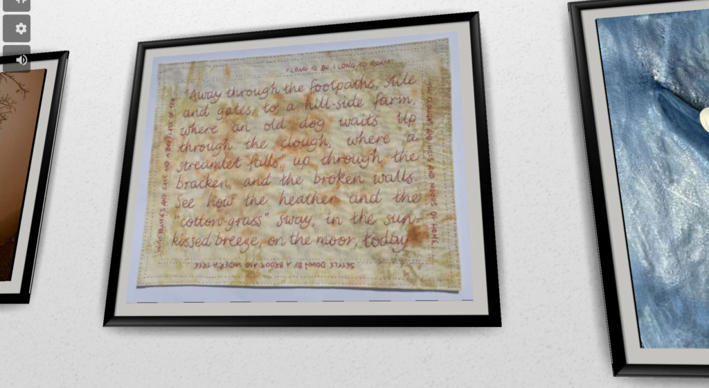 Moors of Home - Artwork on display in the virtual Walk Bye Anniversary Exhibition