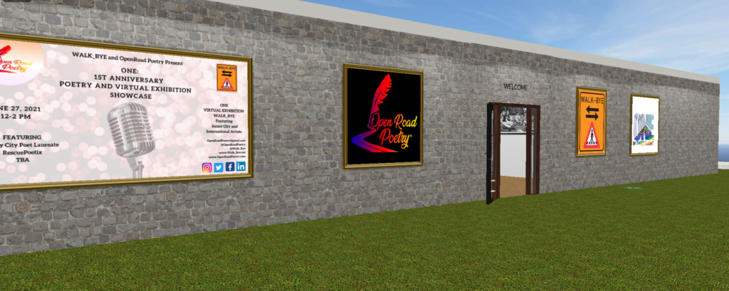 The entrance to the virtual Walk Bye Anniversary Exhibition