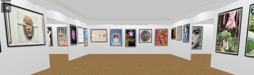 Artwork on display in the virtual Walk Bye Anniversary Exhibition