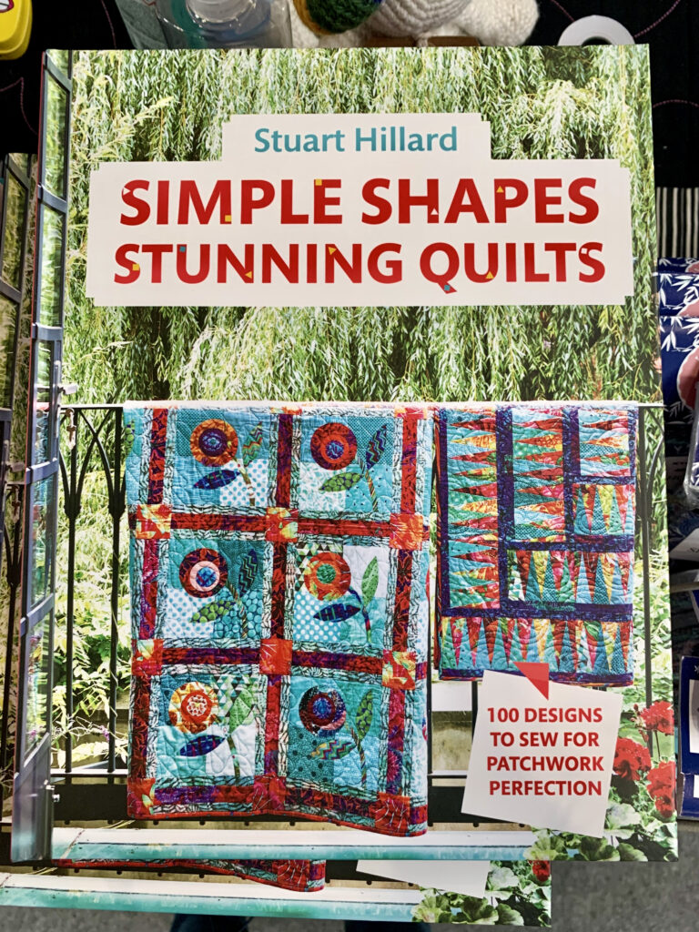 Simple Shapes Stunning Quilts book with multicoloured patchwork quilts on the cover