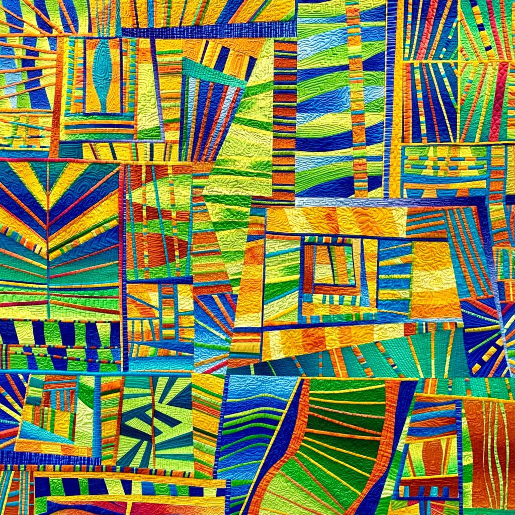 Multicolured applique Artwork