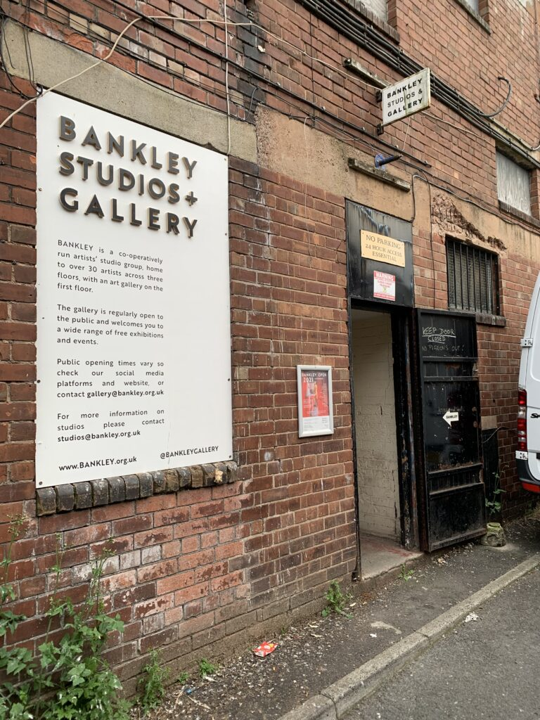 Bankley 2021 Opening Night - The outside of the Bankley Studios - a former industrial mill in the centre of Manchester